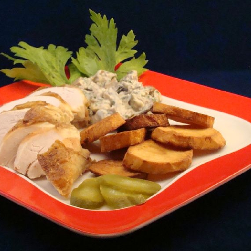 Egyben sült csirkemell erdeigombamártással - Csirkéből..
